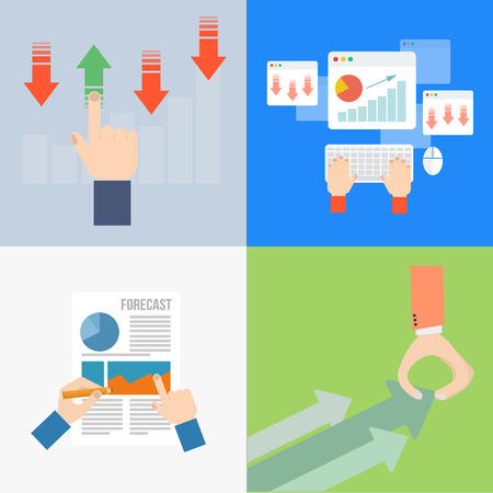 Element of business process concept icon in flat design  Vector
