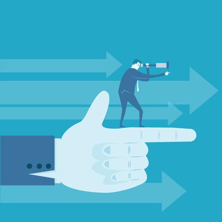 montrer du doigt: L'homme d'affaires point de doigt de cibler Illustration