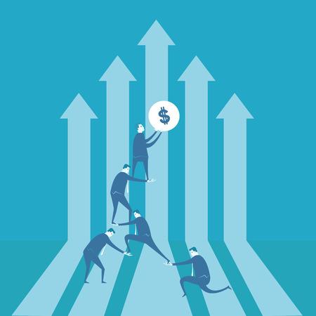 financial graph: Team building financial graph