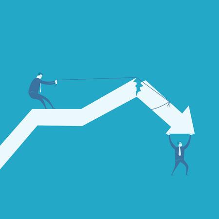 stock market crash: Business crack graph