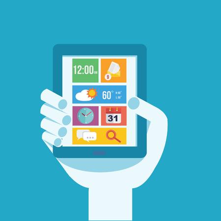 mobile application: Mobile application  Illustration