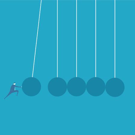 challenge concept d'affaires Vecteurs
