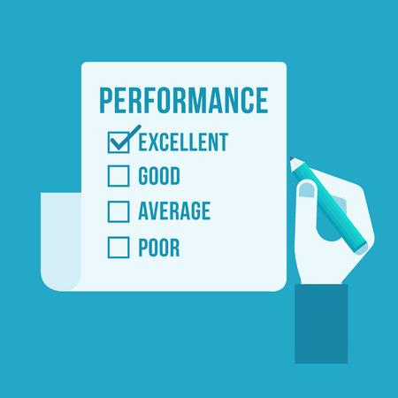 tickbox: Performance evaluation form  Illustration