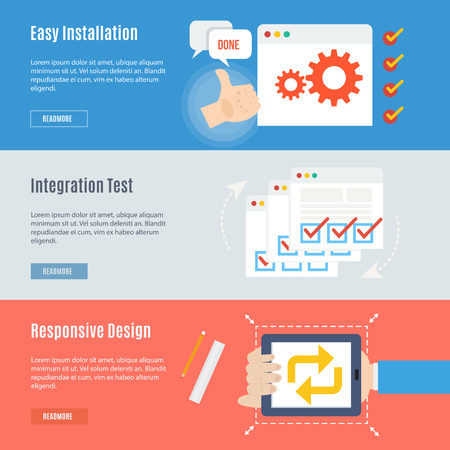 Element of computer concept icon in flat design   Illustration