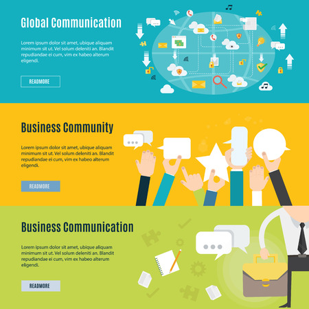 Element of business communication concept icon in flat design Vector