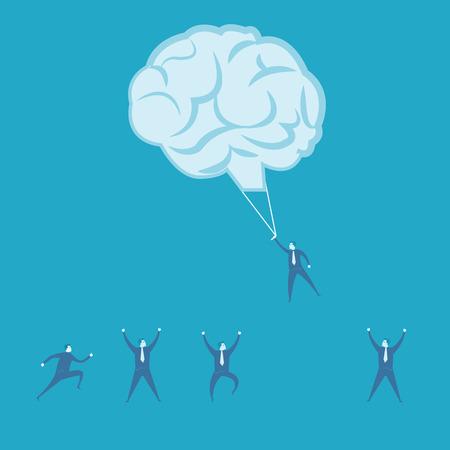 Brainstorm and teamwork idea concept