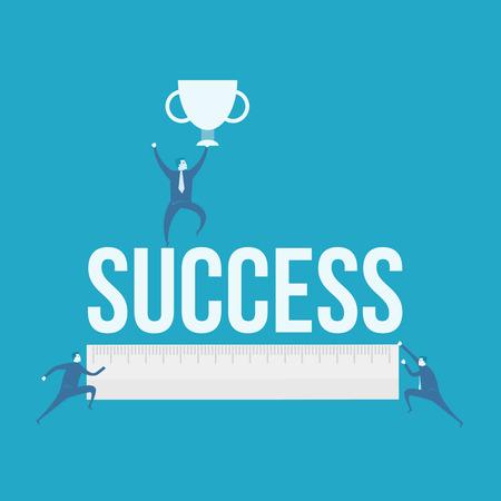 accomplishes: word of success Illustration