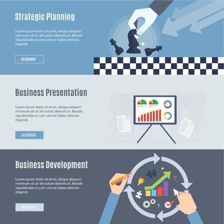 フラットなデザインのビジネス コンセプト アイコンの要素