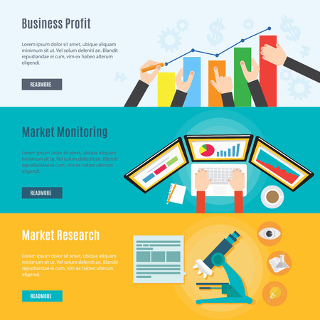 optimize: Element of marketing and business concept icon in flat design