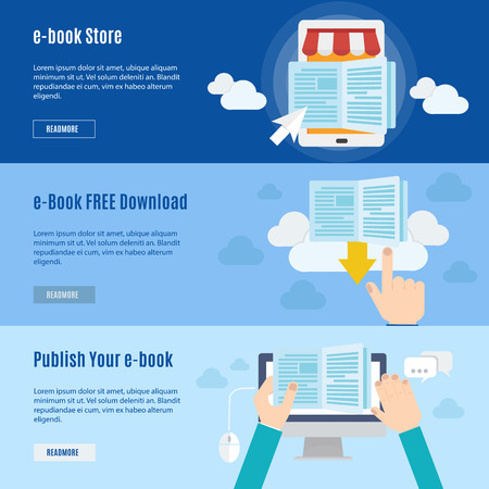 download: Element of ebook icon in flat design