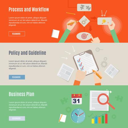 フラットなデザインのビジネス仕事概念アイコンの要素