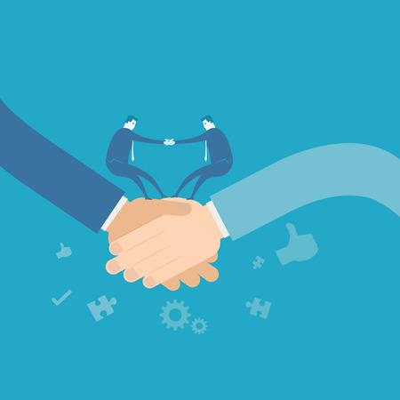 business team: Business team shakehand Illustration