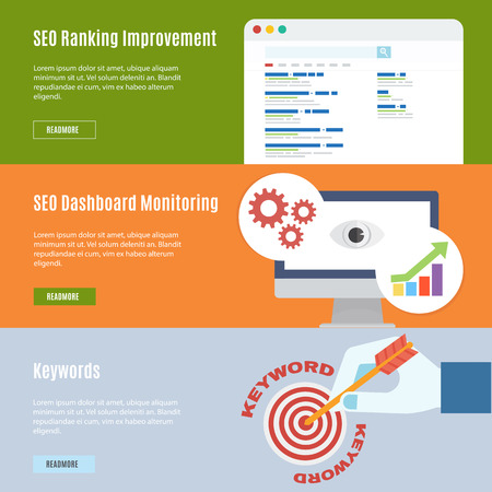 Element of SEO concept icon in flat design