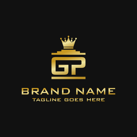 initial logo GP King your company