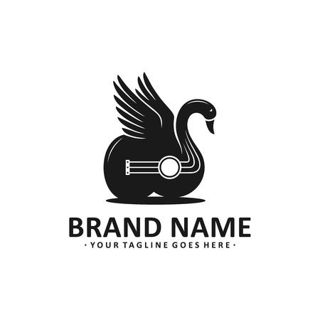 black swan guitar logo design