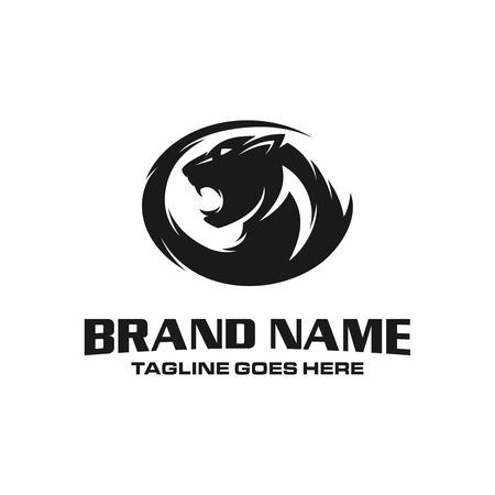 panther head logo Stock Illustratie