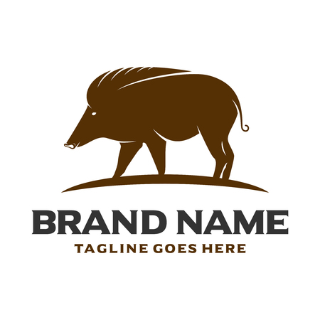 brown pig logo your company
