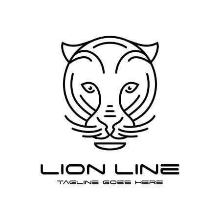 lion head outline logo your company