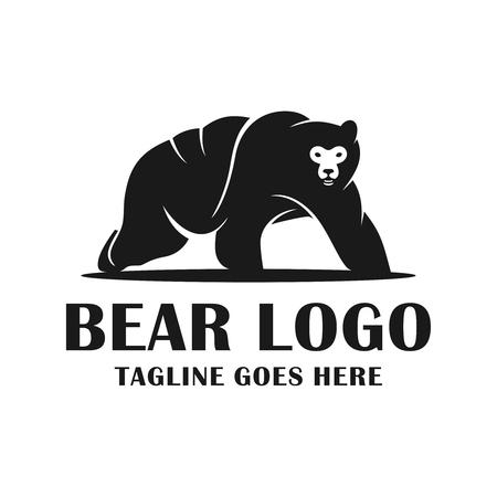 logo de personnage d'ours