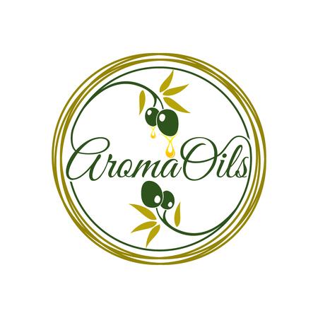 disegno del logo dell'olio aromatico
