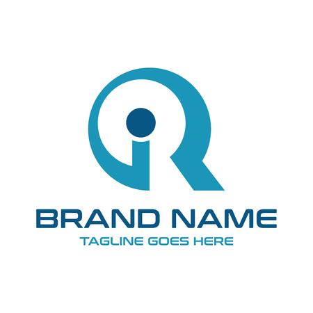 initial logo IR your company