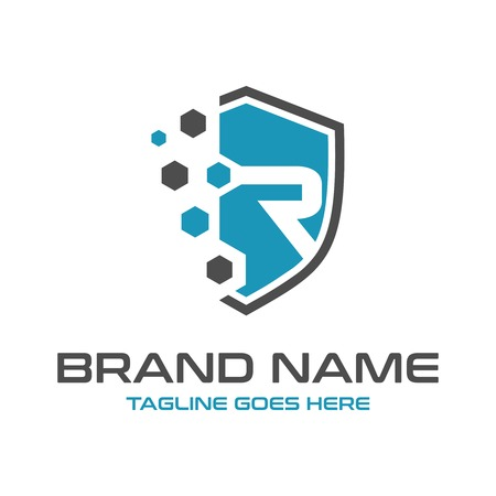 initial logo R your company