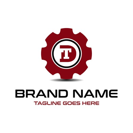 initial logo DT repairs your company
