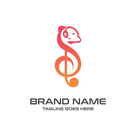 squirrel music logo your company Illusztráció
