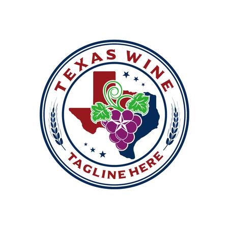 logo emblem texas wine your company Vectores