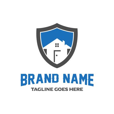 home shield logo design four your company Ilustração