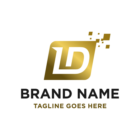 initial logo LD your company