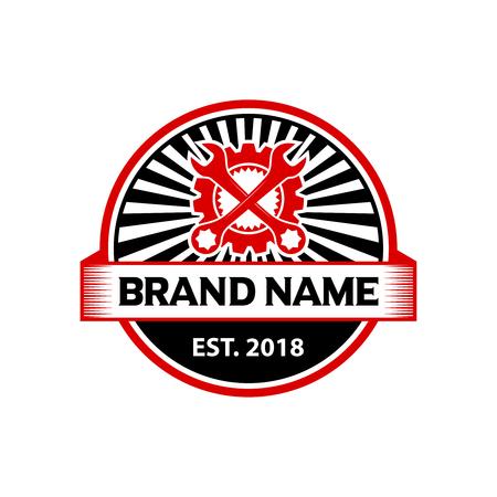 logo badge engine repair your company