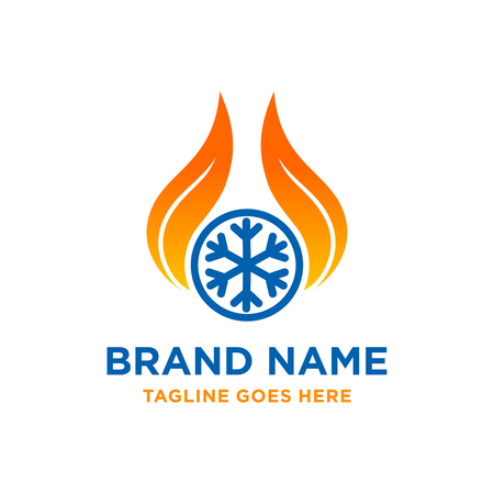 fire cooling logo your company