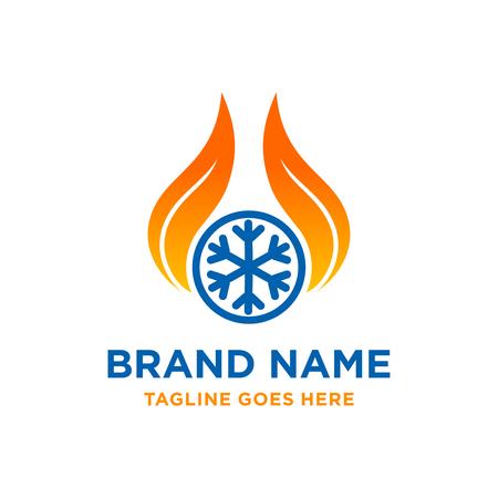 logo de refroidissement par le feu votre entreprise