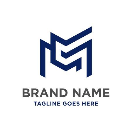 MC initial logo design your company