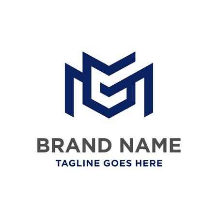 MG początkowe logo zaprojektuj swoją firmę