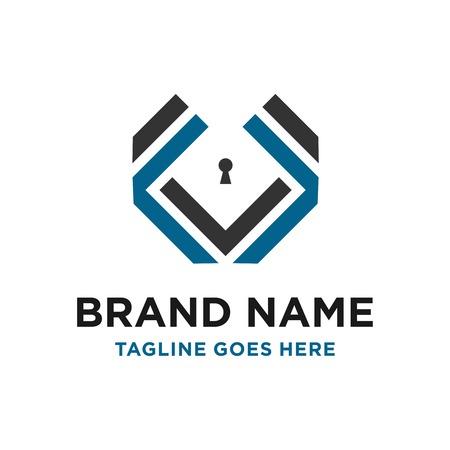 design del logo iniziale V la tua azienda Logo