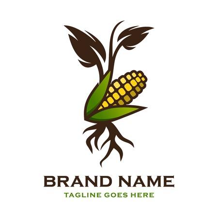 corn shoot logo your company Ilustrace