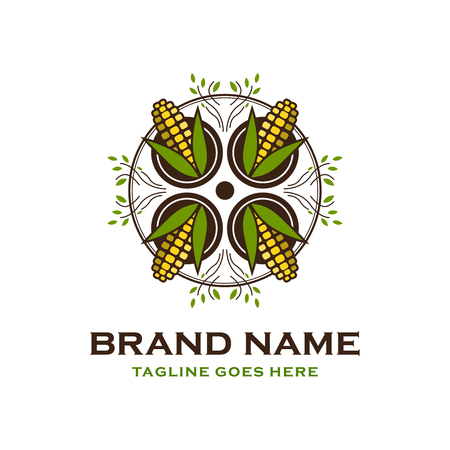 corn logo design your company