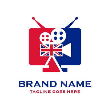 American television logo design Stock Illustratie