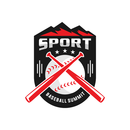 mountain peak baseball logo your company