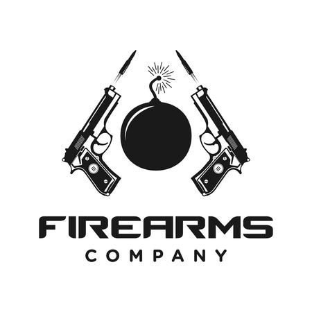 firearms logo four your company Ilustração