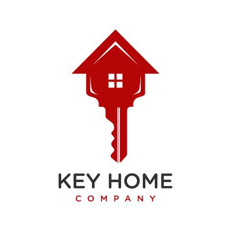 house key logo design your company Ilustracja