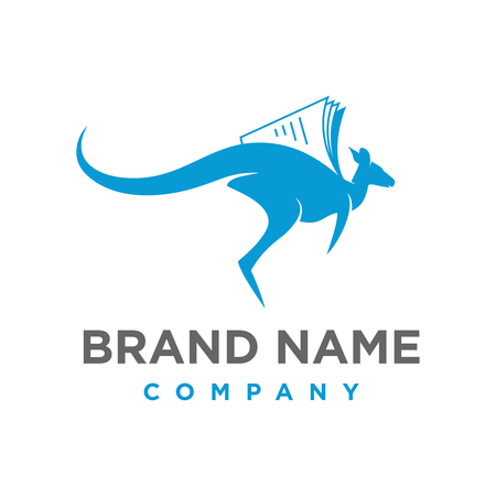 Kangaroo Book Logo your company