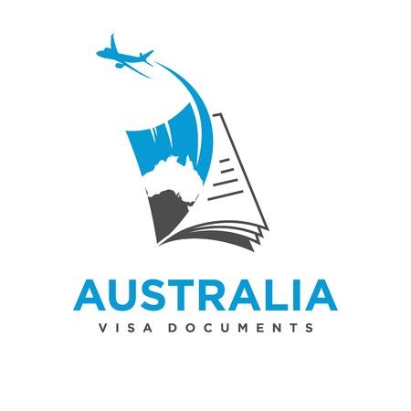 Australian travel document logo your company