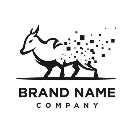 logo of cow processing technology your company Illustration