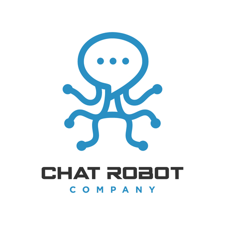 robot chat logo your company Vettoriali