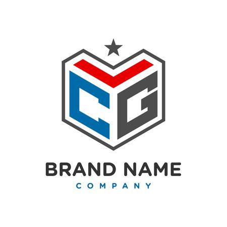 initial logo CG your company Logó