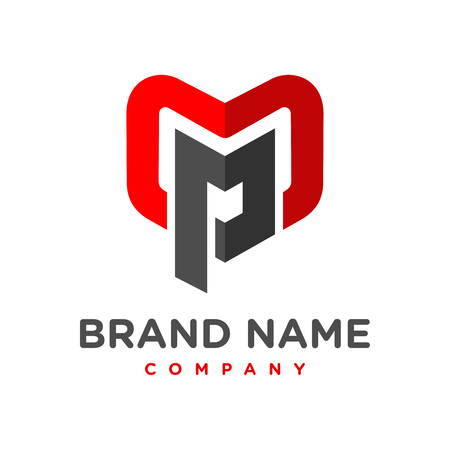 initial logo MP your company