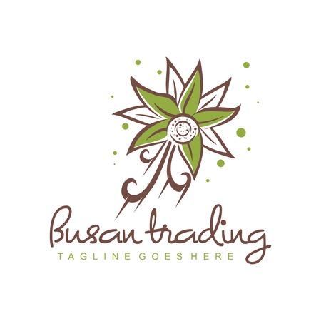 olive flower logo your company Illustration